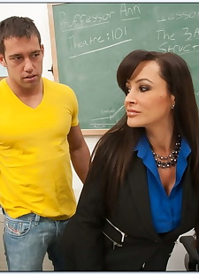 porn photos Gorgeous teacher in stockings Lisa Ann, big tits , lingerie