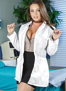 porn photos Hot female doctor Abigail Mac doffs, brunette , petite